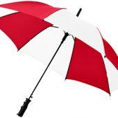 Зонт Barry 23″ полуавтоматический, красный/белый