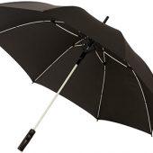 """Зонт-трость """"Spark"""" полуавтомат 23″, черный/белый, арт. 009183603"""