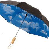 Зонт Blue skies 21″ двухсекционный полуавтомат, черный