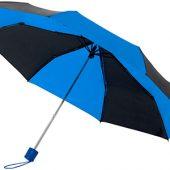 Зонт Spark 21″ трехсекционный механический, черный/cиний