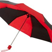 Зонт Spark 21″ трехсекционный механический, черный/красный