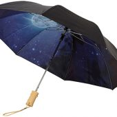 Зонт Clear night sky 21″ двухсекционный полуавтомат, черный