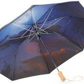 Зонт Clear night sky 21″ двухсекционный полуавтомат, черный, арт. 009188603
