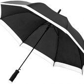 Зонт-трость Kris 23″ полуавтомат, черный/белый, арт. 009167803