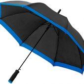 Зонт-трость Kris 23″ полуавтомат, черный/синий