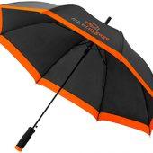 Зонт-трость Kris 23″ полуавтомат, черный/оранжевый, арт. 009167403