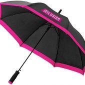Зонт-трость Kris 23″ полуавтомат, черный/фуксия, арт. 009167303