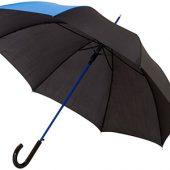 Зонт-трость Lucy 23″ полуавтомат, черный/синий, арт. 009169003
