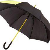Зонт-трость Lucy 23″ полуавтомат, черный/неоново-зеленый