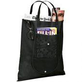 Складная сумка Maple из нетканого материала, черный, арт. 009181503