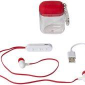 Наушники с функцией Bluetooth с чехлом с карабином, красный, арт. 009209303