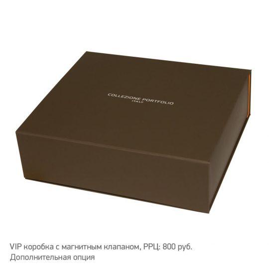 Ежедневник-портфолио River, коричневый, искусственная эко-кожа, недатированный кремовый блок, подарочная коробка