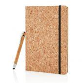 Блокнот Cork на резинке с бамбуковой ручкой-стилус, А5, арт. 009296306
