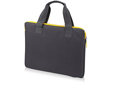 "Конференц сумка ""Session"", серый/желтый, арт. 009554503"