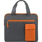 "Конференц сумка ""Session"", серый/оранжевый, арт. 009554603"