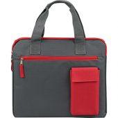 "Конференц сумка ""Session"", серый/красный, арт. 009554703"