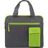 "Конференц сумка ""Session"", серый/зеленый, арт. 009554903"