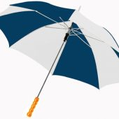 Зонт-трость «Lisa» полуавтомат 23″, синий/белый
