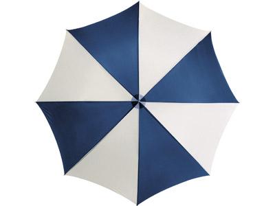 """Зонт-трость """"Lisa"""" полуавтомат 23″, синий/белый, арт. 009498303"""