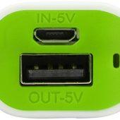 Портативное зарядное устройство (power bank) Basis, 2000 mAh, зеленое яблоко
