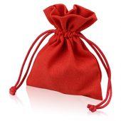 Мешочек подарочный, лен, малый, красный, арт. 009429403