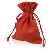 Мешочек подарочный, лен, средний, красный, арт. 009539303