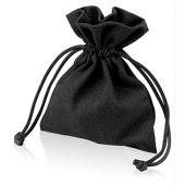 Мешочек подарочный, лен, малый, черный, арт. 009429303