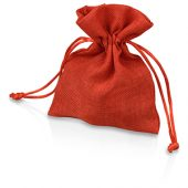 Мешочек подарочный, искусственный лен, малый, красный, арт. 009539703