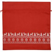Мешочек подарочный новогодний, хлопок, большой, красный, арт. 009540903