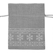 Мешочек подарочный новогодний, хлопок, малый, серый, арт. 009540403