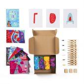 """Подарочный набор """"4 сезона"""", 4 пары тематических носков и авторский календарь"""