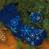 """Носки в шаре """"Снежинка"""" женские, синий ( стопа 21,5-25 см ), арт. 009597803"""