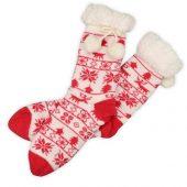 Домашние носки женские, красный ( стопа 21,5-25 см ), арт. 009598203