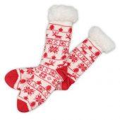 Домашние носки мужские, красный ( стопа 25-28 см ), арт. 009598403