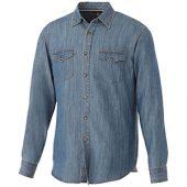 Рубашка Sloan с длинными рукавами мужская, джинс ( L )