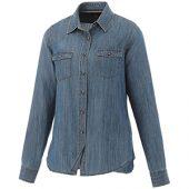 Рубашка Sloan с длинными рукавами женская, джинс ( XS )