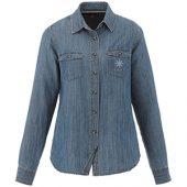 Рубашка Sloan с длинными рукавами женская, джинс ( XS ), арт. 009687503