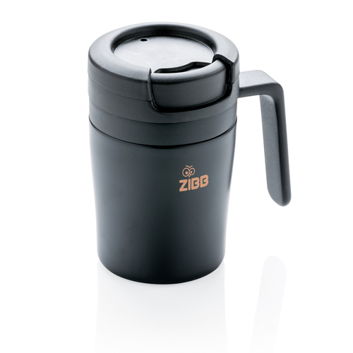 Термокружка с ручкой Coffee-to-go, черный, арт. 009740306