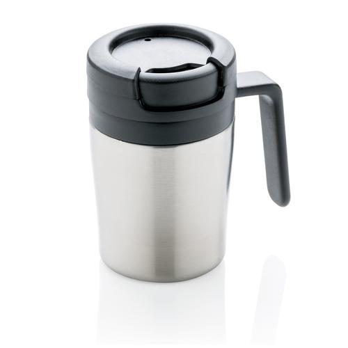 Термокружка с ручкой Coffee-to-go, серебряный, арт. 009740206