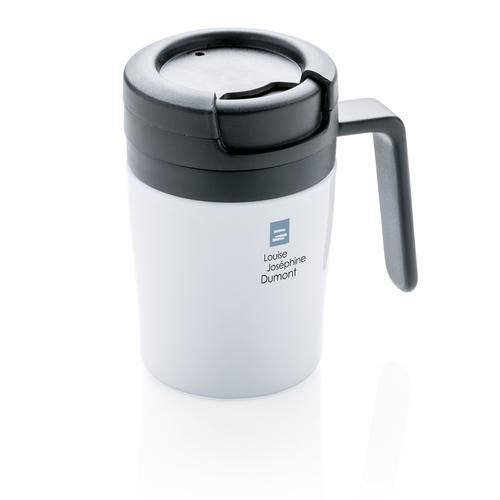 Термокружка с ручкой Coffee-to-go, белый, арт. 009740106