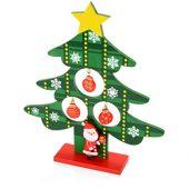 Декоративная елочка c игрушками и Дед-морозом, арт. 012823303