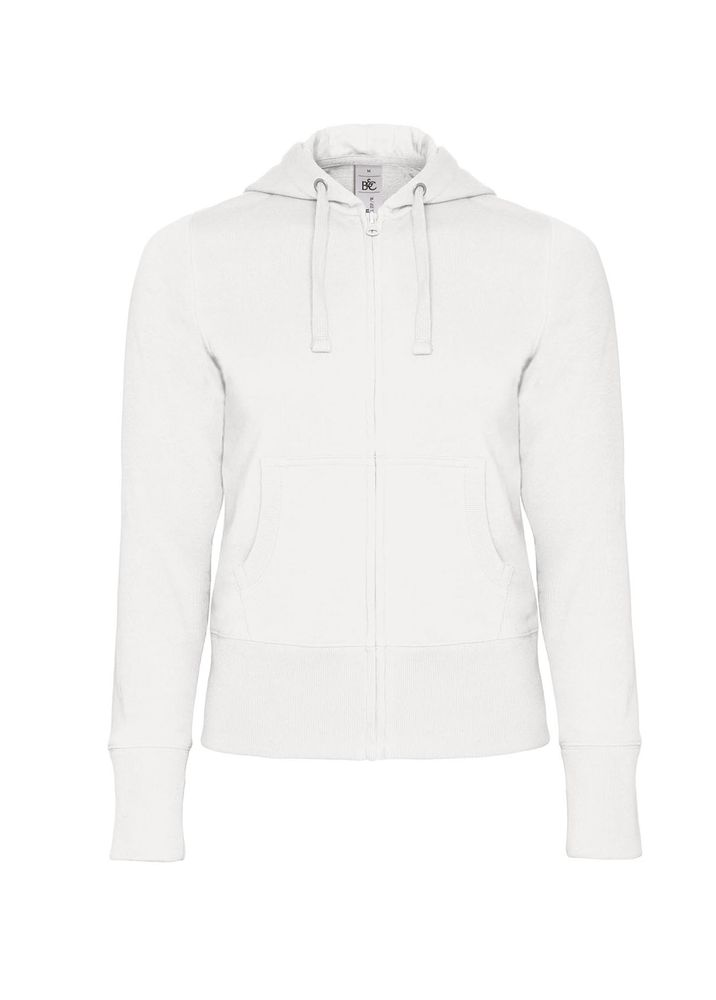41dfe3a8f10 Толстовка женская Hooded Full Zip белая