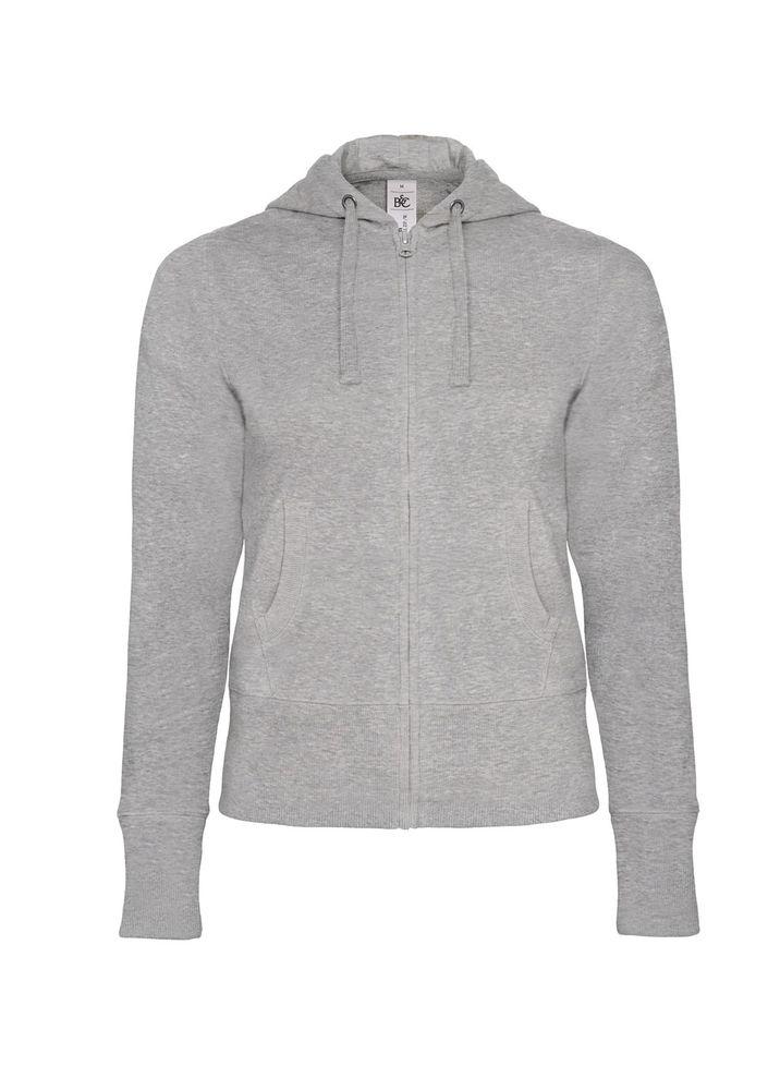 49f207c48c6 Толстовка женская Hooded Full Zip серый меланж