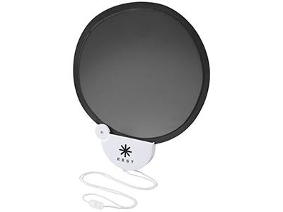 Складной вентилятор Breeze со шнурком, черный/белый, арт. 013513603