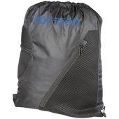 Спортивный рюкзак из сетки на молнии, черный, арт. 013480503