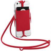 Картхолдер RFID со шнурком, красный, арт. 013471003