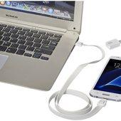 Зарядный кабель-клип 2 в 1, белый, арт. 013468503