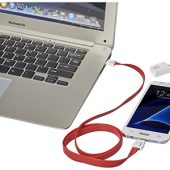 Зарядный кабель-клип 2 в 1, красный, арт. 013468303