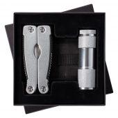 Набор Handmaster: фонарик и мультитул, серебристый
