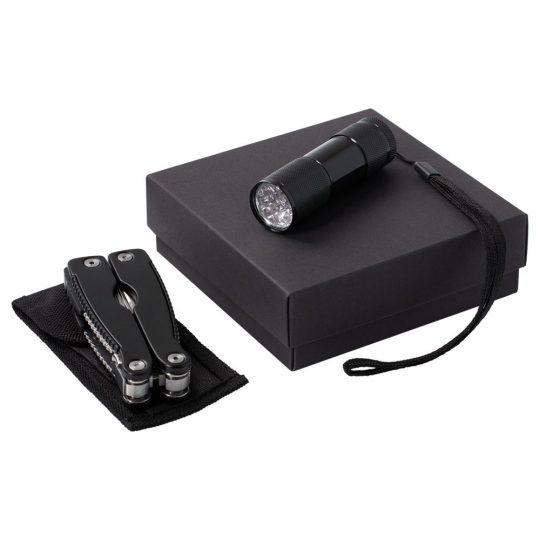 Набор Handmaster: фонарик и мультитул, черный